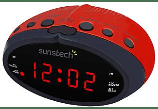Radio despertador - Sunstech FRD16, Radio AM/FM, LED, Roja