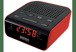 Radio despertador - Daewoo DCR-46 Rojo