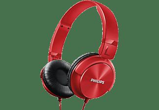 Auriculares con cable - Philips SHL3060RD/00, Tipo DJ, plegables, rojo