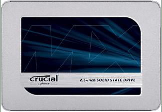 """Disco duro SSD de 500 GB - Crucial MX500, 2.5"""", Velocidad lectura 560 MBs, Velocidad escritura 510"""
