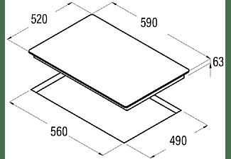 Encimera - Cata IB 6030 BK, Vitrocerámica, Eléctrica, Inducción, 3 zonas, 30 cm