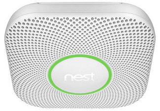 Detector de humo - Google  Nest Protect 2, Sensor de CO, Control de vapor, Blanco y azul, domótica