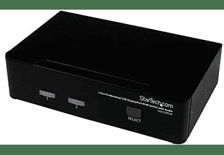 Switch KVM - StarTech.com SV231DPUA Conmutador Switch Profesional 2 Puertos KVM DisplayPort USB