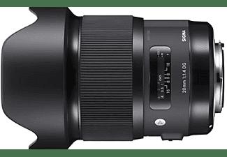 Objetivo - Sigma DG HSM ART, 20 mm, 129.8mm, f/1.4 , Para Canon, Ultra gran angular, Negro