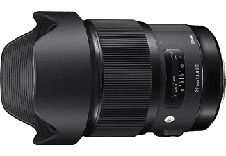 Objetivo - Sigma DG HSM ART, 20 mm, 129.8mm, f/1.4 , Para Nikon, Ultra gran angular, Negro