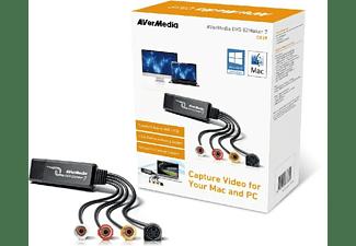 Capturadora de video - AVerMedia DVD EZMaker 7, Convierte VHS a DVD/VCD, USB, Mac y PC
