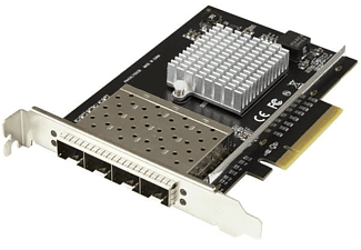 Tarjeta de Red - StarTech.com PEX10GSFP4I Tarjeta de Red PCI Express 4 Puertos SFP+ Intel XL710