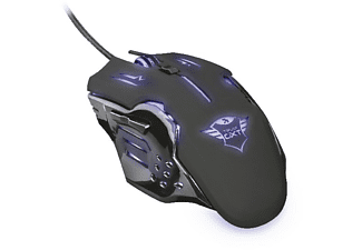 Ratón gaming - Trust GXT 108 Rava, USB, Óptico, 2000ppp, Diestro, Negro