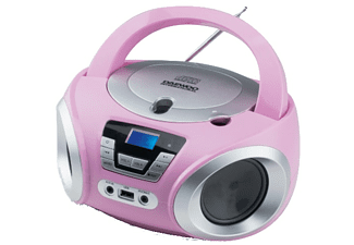 Radio CD - Daewoo DBU-050PK, Puerto USB, Sintonizador digital, Reproductor MP3, Rosa