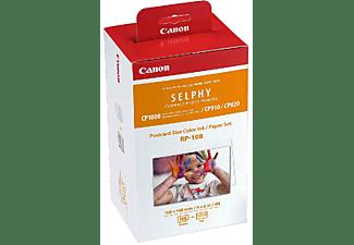 Cartucho de tinta + Papel Fotográfico - Canon RP-108,  Para Selphy CP, Color Blanco