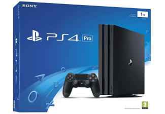 Consola - Sony PS4 Pro 1 TB, Negro, DualShock 4