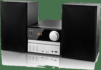Microcadena - PEAQ PMS310BT-SL, CD, USB, Bluetooth, Negro