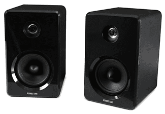 Altavoces estéreo - Fonestar Monitor-Pl, 20W, Bass reflex, Negro