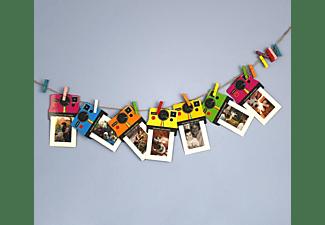 Marco - Pack de 8 marcos Polaroid PLXG010 Vintage, Colores, Para papel Zinc 2x3