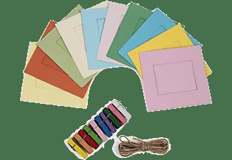 Marco - Pack de 8 marcos Polaroid PLXG020 Vintage, Colores, Para papel Zinc 2x3