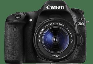 Cámara réflex - Canon EOS 80D, 24.2 MP, Full HD, DIGIC 6 + EF-S 18-55 mm F3.5-5.6 IS STM