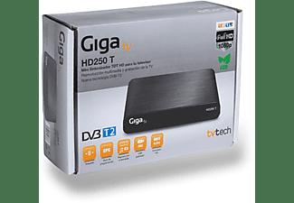 Sintonizador DVB-T2 - GigaTV HD250 T, HDMI, USB, Euroconector, DVB-T2 (TDT2)