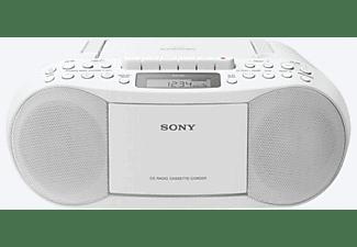 Radio CD - Sony CFDS70W.CED, Sistema Mega Bass, FM/AM, Blanco