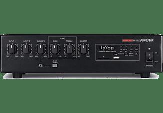 REACONDICIONADO Amplificador de megafonía - Fonestar MA-61RU, 60 W, 2 micros balanceados, 50-20.000 Hz, USB