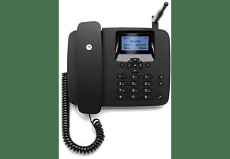 Teléfono - Motorola FW200L, Sobremesa con SIM, Negro