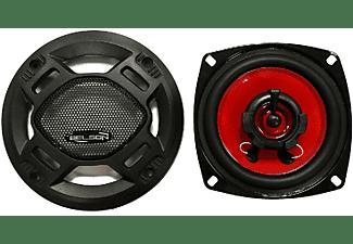 Altavoces coche - Belson BSS-425FB, 10 cm, 2 vías, 80W, Negro y rojo