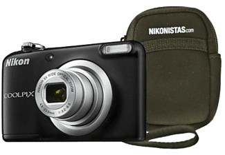 Cámara - Nikon COOLPIX A10, 16.1 MP, Zoom Óptico x5, Vídeo HD + Estuche