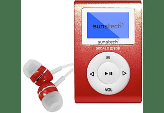 Reproductor MP3 - Sunstech Dedalo III, 8GB, 4h Autonomía, Radio FM, Rojo
