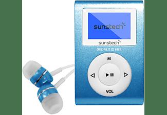 Reproductor MP3 - Sunstech Dedalo III, 8GB, 4h Autonomía, Radio FM, Azul