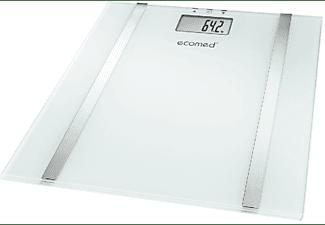 Báscula - Ecomed BS-70E, Mide peso, grasa, agua y masa muscular, Blanco