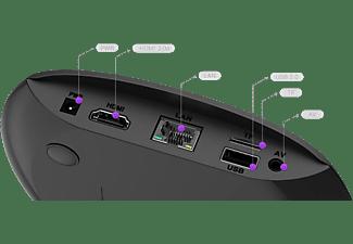 Reproductor multimedia - Sveon SBX602, Android TV, 4K, WiFi, Bluetooth, Quad Core, 2 GB RAM, Negro