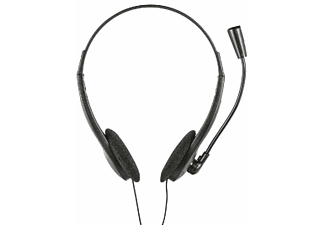 Auriculares con diadema - Trust Primo, De diadema, Con cable, 1.8 m, Jack 3.5,  Negro