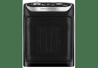 Calefactor cerámico - Rowenta Mini Excel Eco Safe, 1800W, 2 velocidades, Negro