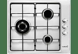 Encimera - Cata GI 6021 X(N), Acero inoxidable, Gas Natural, 3 quemadores