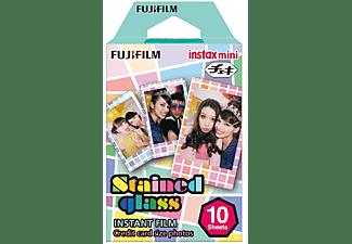 Película fotográfica - Fujifilm ColorFilm Instax Mini Stained Glass, 10 hojas