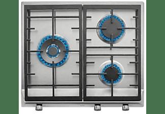 Encimera - Teka EX 60.1 3G AI AL DR CI BUT, Acero inoxidable, Gas Butano, 3 quemadores