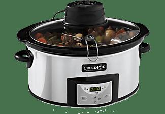 Olla de cocción lenta - Crock-Pot CSC012X, temporizador, panel digital, Acero