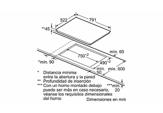 Encimera - Balay 3EB785LQ, Vitrocerámica, Eléctrica, 5 zonas, 28 cm
