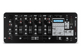 Mezcladora DJ - Fonestar SM-1641UB, 4 canales, 8 entradas, micrófono, USB, SD, MP3