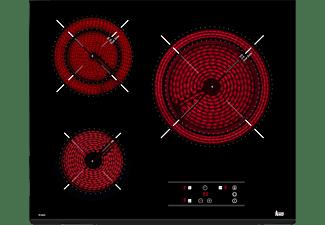 Encimera - Teka TZ 6320, Vitrocerámica, Eléctrica, 3 zonas, 27 cm, Negro