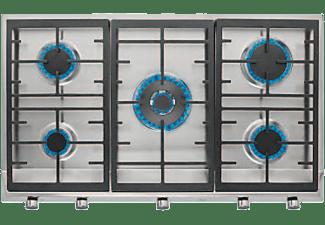 Encimera - Teka EX 70.1 5G AI AL DR, Acero inoxidable, Gas, 5 quemadores