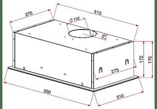 Campana - Teka GFG 2, Decorativa, Grupo filtrante, 3 velocidades, 329 m³/h, Inox
