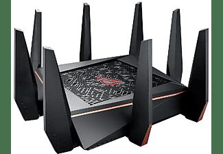 Router gaming - Asus GT-AC5300 TRI-BAND tres bandas, procesador Quad-Core, 1900 MB/s, protección