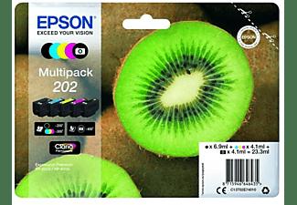 Cartucho de tinta - Epson MULTIPACK 202, 250 páginas, 300 páginas, negro, cian, foto negro,