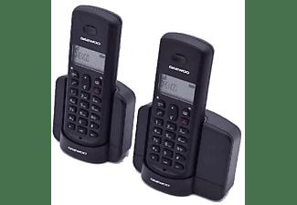 Teléfono - Daewoo DTD-1350B DUO, Inalámbrico, 5 tonos, Memoria, Identificador de llamadas, 10