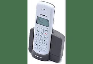 Teléfono - Daewoo Dect DTD-1350, 10 horas, Rellamada, Bloqueo de teclado, Blanco y gris
