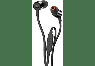 Auriculares Botón - JBL T210, Micrófono, Control remoto, Negro