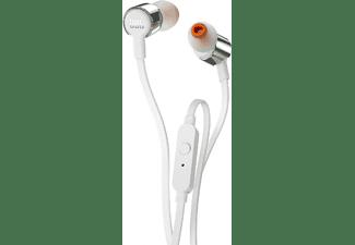 Auriculares Botón - JBL T210, Micrófono, Control remoto, Gris