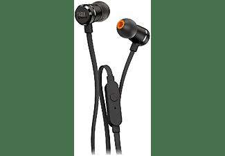Auriculares Botón - JBL T290, Micrófono, Control remoto, Negro
