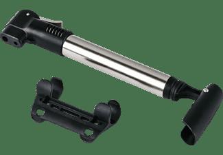 Bomba de aire - Hama 00178119, Con soporte, Para bicicletas, Negro