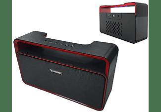 Altavoz inalámbrico - Sunstech SPUBT900BK, Bluetooth, Radio Fm, MicroSD, Negro-Rojo